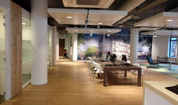 inrichting van de circulair verbouwde ABN Amro kantoor in Gouda