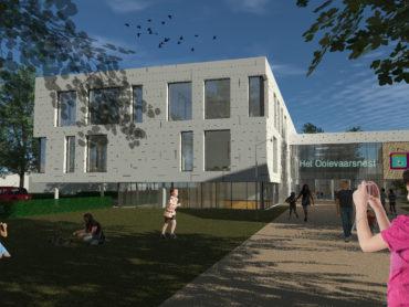 Ingang Brede School 't Ooievaarsnest in Assende